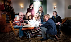 Members of the Jesus Army sitting for portrait with Grayson Perry, 2014