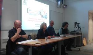 (left) Paul Watt, Gill Crozier, Ben Rogaly and Nando Sigona