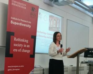 Aleksandra Kazlowska presenting 'social anchoring' at IRiS SAST conference